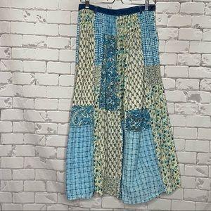 Vintage Patchwork Maxi Skirt Size 12